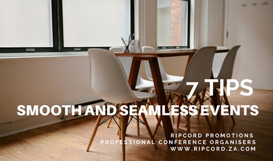 Smooth and seamless events? 7 personal tips